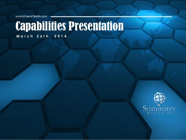 2014 Summitry Capabilities Presentation - Innovation Thru Product Portfolo Optimization