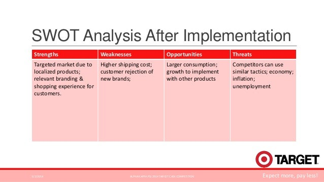 target corporation swot analysis