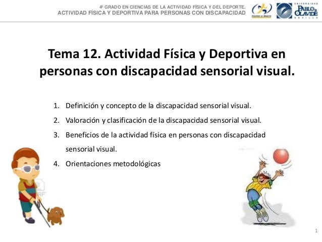 4º GRADO EN CIENCIAS DE LA ACTIVIDAD FÍSICA Y DEL DEPORTE.  ACTIVIDAD FÍSICA Y DEPORTIVA PARA PERSONAS CON DISCAPACIDAD  T...