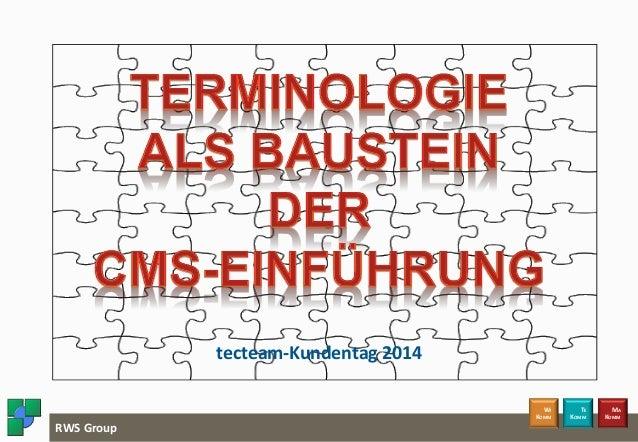 Terminologie als Baustein der CMS-Einführung