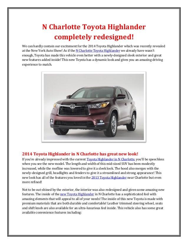2014 Toyota Highlander redesigned