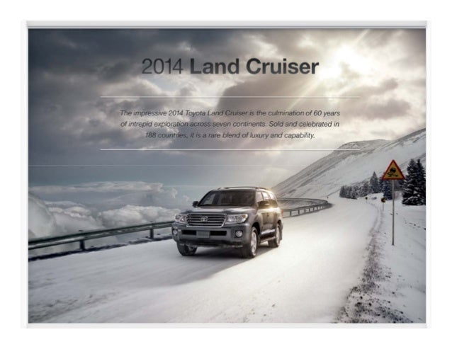 2014 Toyota Land Cruiser Brochure at a Toyota Dealer Serving Peoria