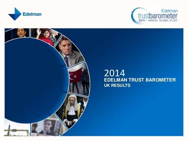 2014  EDELMAN TRUST BAROMETER UK RESULTS
