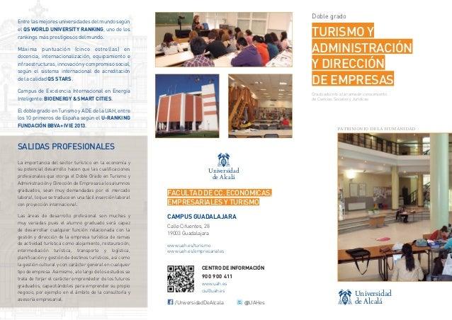 Ciencias Sociales y Jurídicas - Doble Grado en Turismo y Administración y Dirección de Empresas
