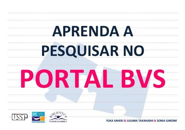 Aprenda a pesquisar no Portal BVS - Tutorial