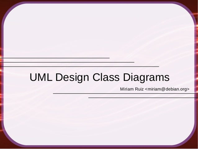 UML Design Class Diagrams (2014)