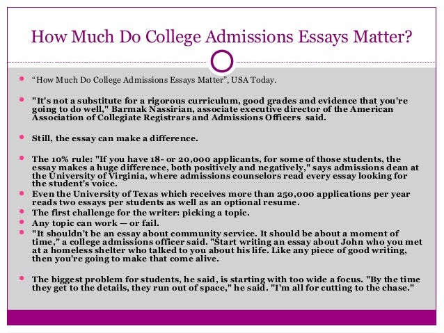 Important Is The College Application Essay