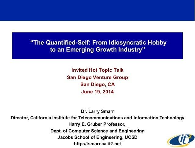 Venture Summit 2014, Dr. Larry Smarr