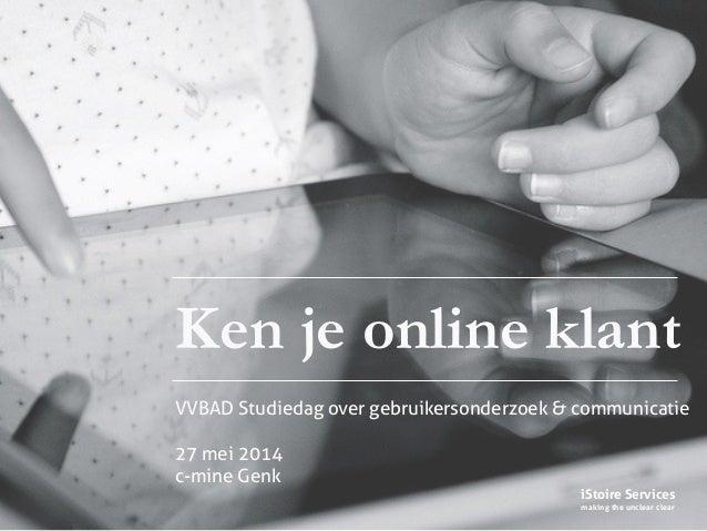 Ken je online klant