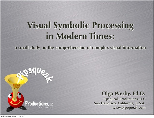 Visual Symbolic Processing in Modern Times