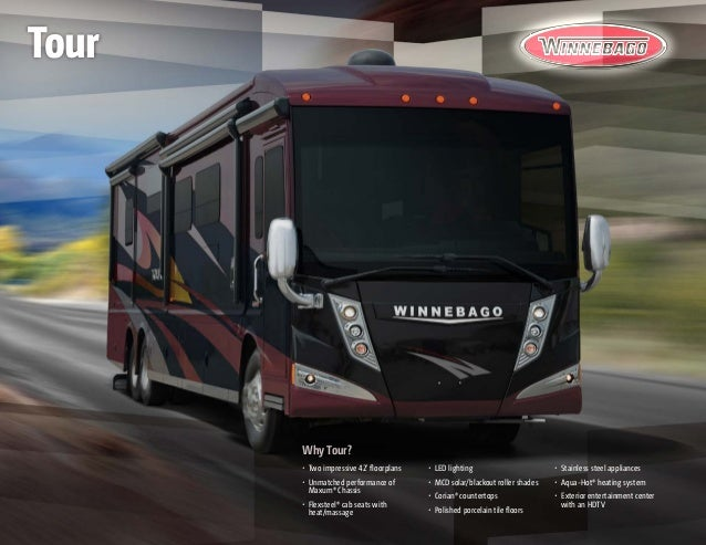 Why Tour? • Two impressive 42' floorplans • Unmatched performance of Maxum® Chassis • Flexsteel® cab seats with heat/ma...