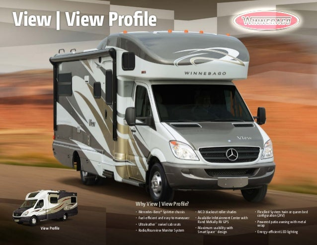 2014 winnebago view view profile class c motorhomes for Mercedes benz view rv