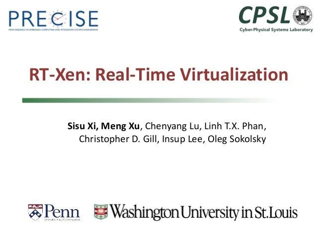 RT-Xen: Real-Time Virtualization  Sisu Xi, Meng Xu, Chenyang Lu, Linh T.X. Phan, Christopher D. Gill, Insup Lee, Oleg Soko...