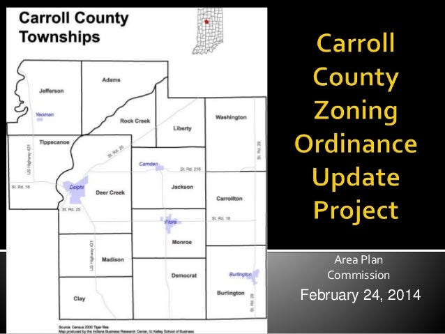 2014 zoning presentation for Carroll County, Indiana