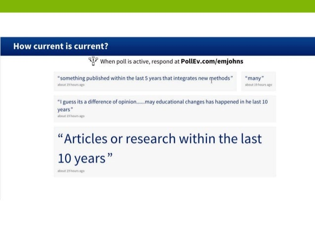 SERIOUS POLL: For research paper?