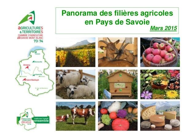 Panorama des filières agricoles en Pays de Savoie Mars 2015