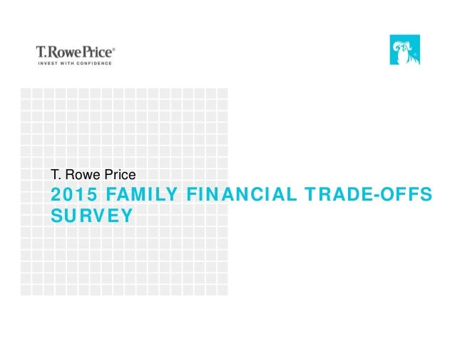 2015 FAMILY FINANCIAL TRADE-OFFS SURVEY T. Rowe Price