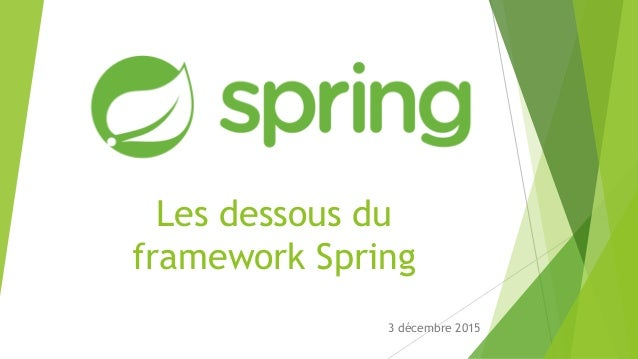 Les dessous du framework Spring 3 décembre 2015