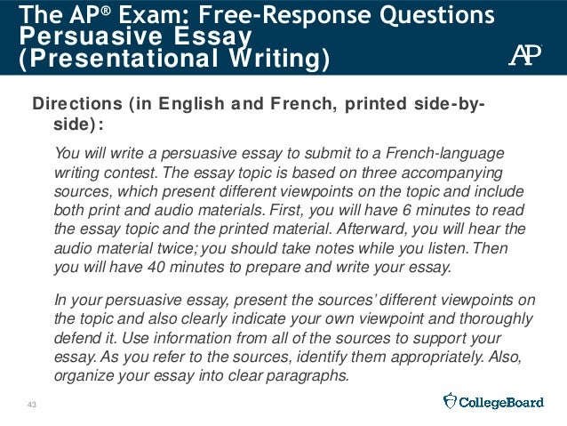 How To Write A College Persuasive Essay