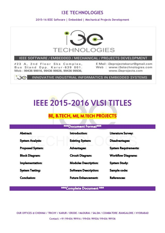 Projects for btech ece