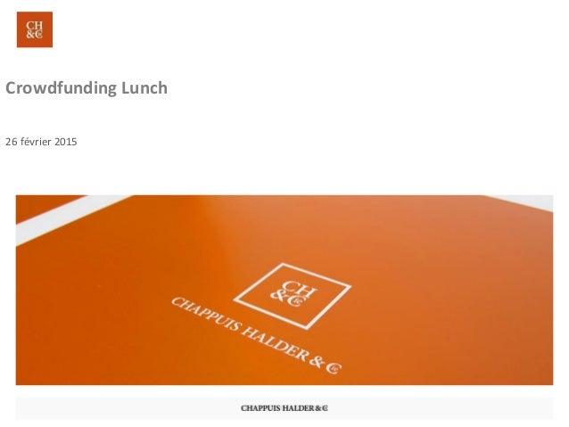 Crowdfunding Lunch 26 février 2015