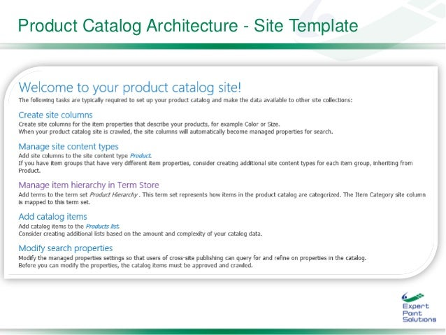sharepoint 2013 product catalog site template - sasug jan 2015 sharepoint 2013 search driven sites