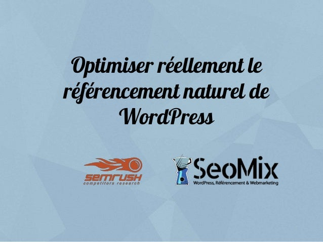 Optimiser réellement le référencement naturel de WordPress