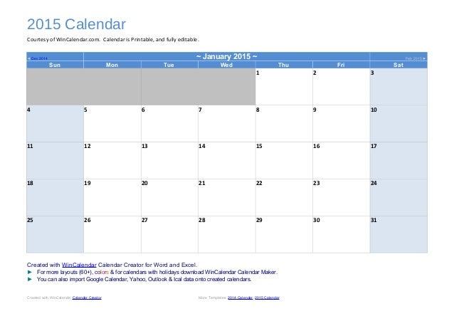 Wincalendar Com Printable Calendar | Calendar Template 2016