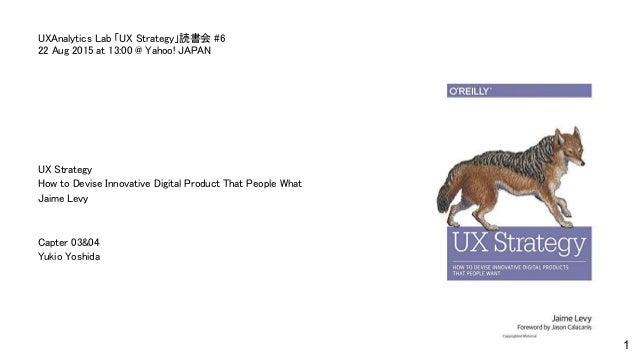 ux strategy jaime levy pdf