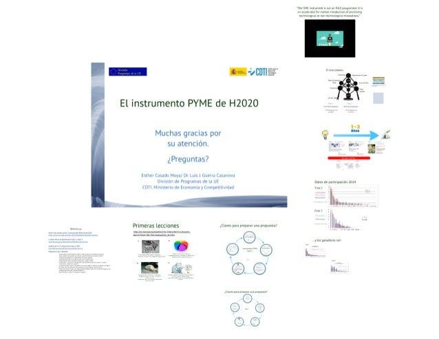 Taller de preparación de propuestas de Instrumento PYME de H2020