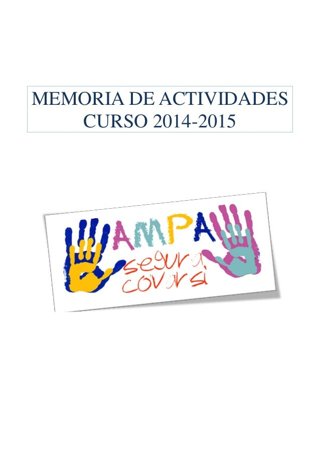 MEMORIA DE ACTIVIDADES CURSO 2014-2015