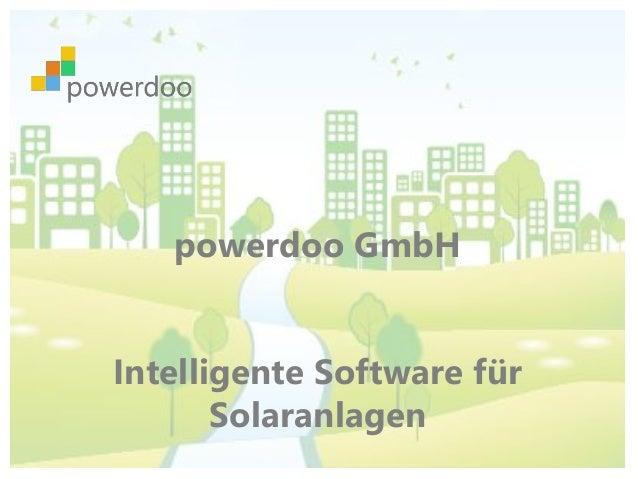 powerdoo GmbH Intelligente Software für Solaranlagen