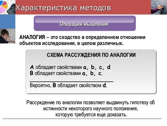 СХЕМА РАССУЖДЕНИЯ ПО