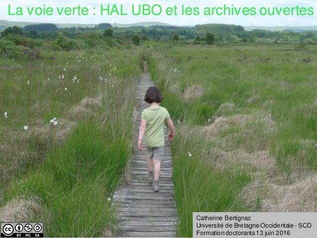 HALUBOLa voie verte : HAL UBO et les archives ouvertes Catherine Bertignac Université de Bretagne Occidentale - SCD Format...
