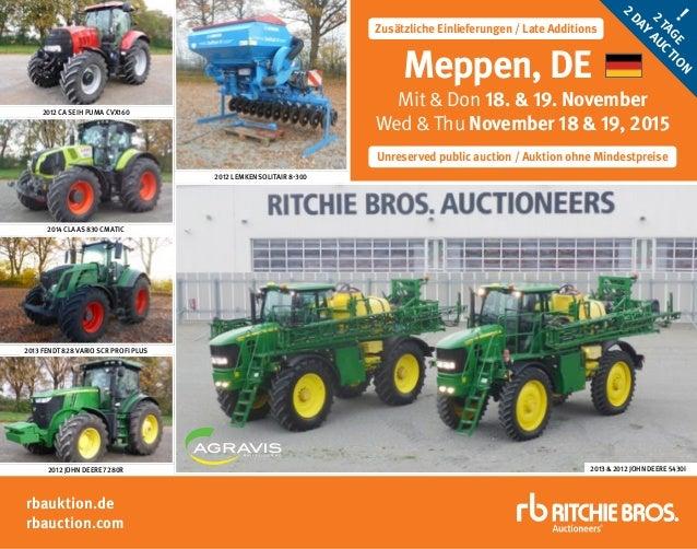 rbauktion.de rbauction.com Unreserved public auction / Auktion ohne Mindestpreise Zusätzliche Einlieferungen / Late Additi...