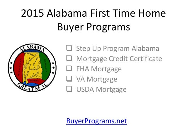 2015 Alabama First Time Home Buyer Programs