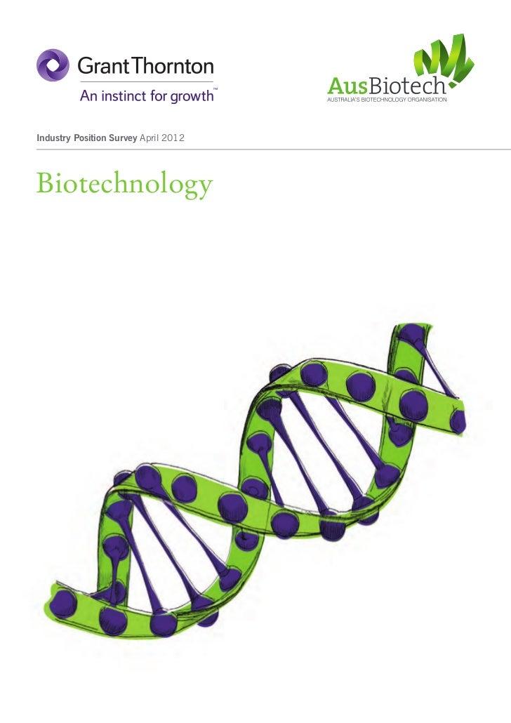 Industry Position Survey April 2012Biotechnology