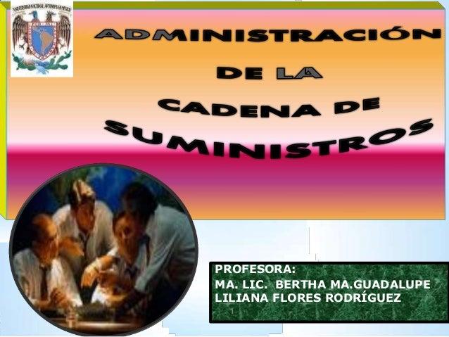 PROFESORA:  MA. LIC. BERTHA MA.GUADALUPE  LILIANA FLORES RODRÍGUEZ  1