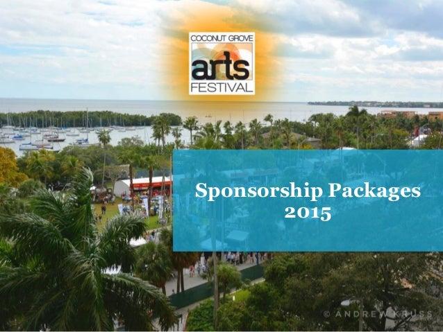 2015 Coconut Grove Festival -  Sponsor Packages