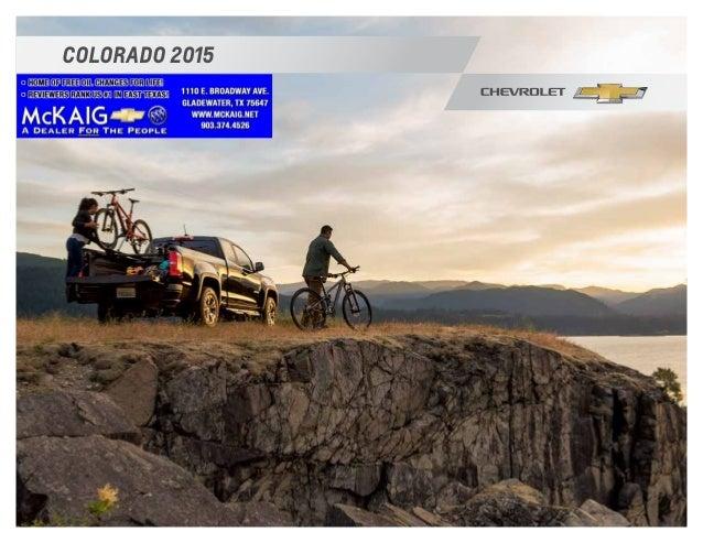 2015 Chevrolet Colorado Brochure McKaig Chevrolet Buick - Your East T ...