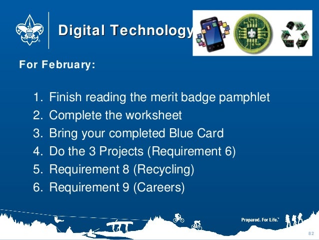 Digital Technology Merit Badge Worksheet 011 - Digital Technology Merit Badge Worksheet