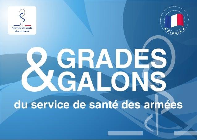 F r a n c e GRADES &GALONS du service de santé des armées