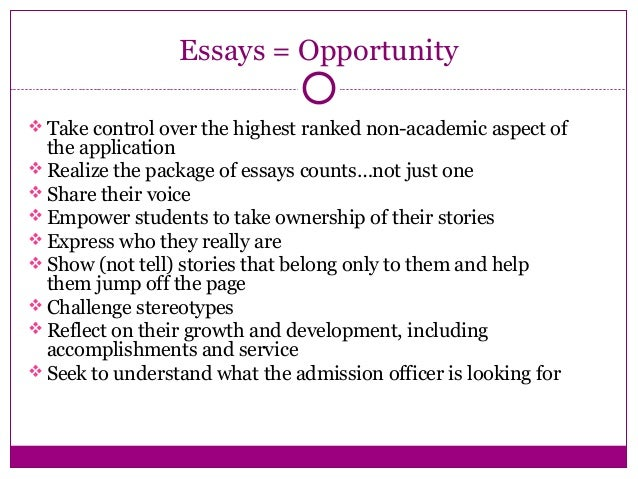 Application Essays