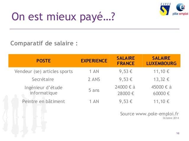 Comment rechercher un emploi au luxembourg ou travailler au luxembour for Salaire vendeur