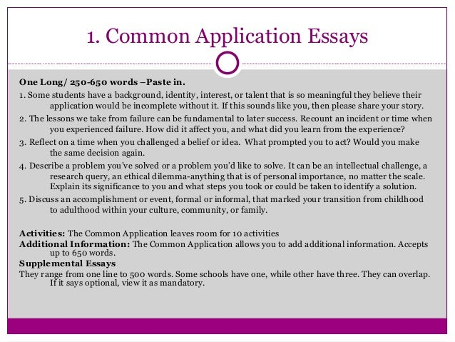Common app college essay?