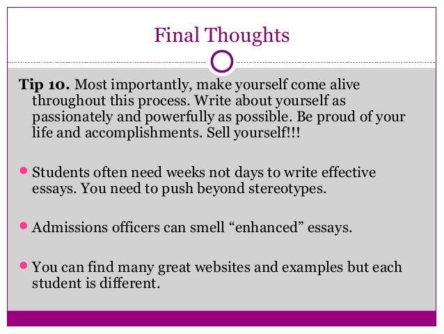 College impact essays