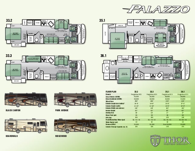 2015 Thor Palazzo Class A Motorhomes Flyer