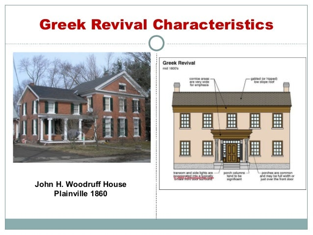 This old connecticut house ce course for Greek revival architecture characteristics