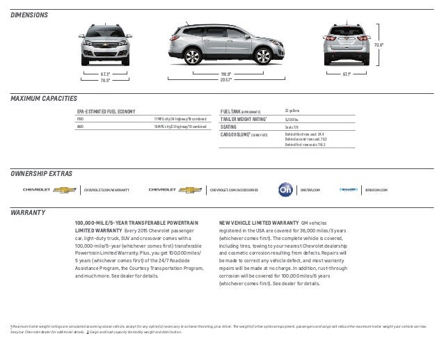 2015 Chevrolet Traverse In South Jersey Rk Chevrolet