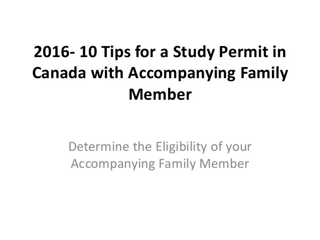 Accompanying Family Members - study in Canada I Avenue Canada